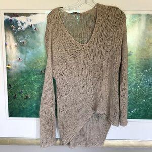Helmut by Helmut Lang Open Knit Oatmeal Sweater
